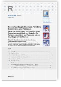 Merkblatt: ift-Richtlinie WA-15/2, Februar 2011. Passivhaustauglichkeit von Fenstern, Außentüren und Fassaden
