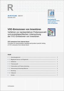 Merkblatt: ift-Richtlinie UM-01/1, Dezember 2012. VOC-Emissionen von Innentüren