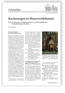 Merkblatt: Kartierung an Mauerwerksbauten