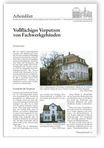Merkblatt: Vollflächiges Verputzen von Fachwerkgebäuden