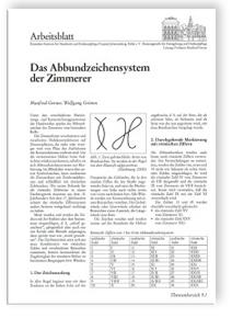 Merkblatt: Das Abbundzeichensystem der Zimmerer