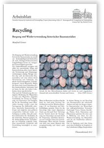 Merkblatt: Baustoffrecycling