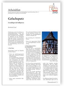 Merkblatt: Gefacheputz - Grundlagen des Kalkputzes