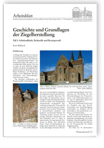 Merkblatt: Geschichte und Grundlagen der Ziegelherstellung