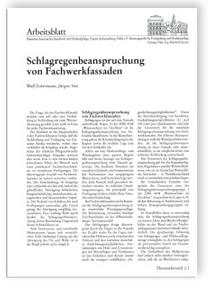 Merkblatt: Schlagregenbeanspruchung von Fachwerkfassaden