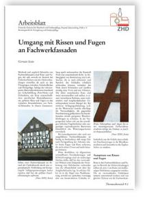 Merkblatt: Umgang mit Rissen und Fugen an Fachwerkfassaden