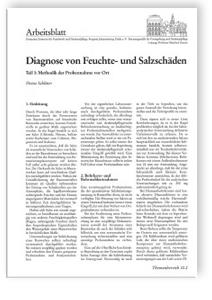 Merkblatt: Diagnose von Feuchte- und Salzschäden