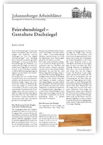Merkblatt: Feierabendziegel - Gestaltete Dachziegel
