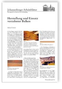 Merkblatt: Herstellung und Einsatz verzahnter Balken