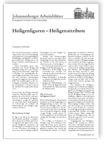 Merkblatt: Heiligenfiguren - Heiligenattribute