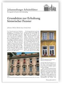 Merkblatt: Grundsätze zur Erhaltung historischer Fenster