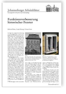 Merkblatt: Funktionsverbesserung historischer Fenster