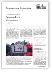 Merkblatt: Sonnenuhren. Die himmlischen Stundenzähler. Tl.3. Besonderheiten