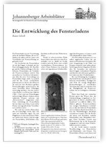 Merkblatt: Die Entwicklung des Fensterladens