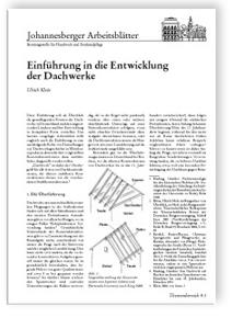 Merkblatt: Einführung in die Entwicklung der Dachwerke