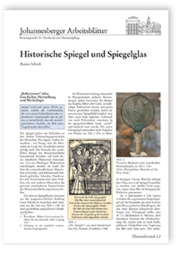 Merkblatt: Historische Spiegel und Spiegelglas