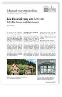Merkblatt: Die Entwicklung des Fensters. Teil 3: Das Fenster im 20. Jahrhundert