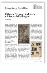 Merkblatt: Hölzerne Gartenarchitekturen mit Borkenbekleidungen