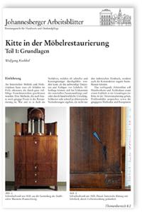 Merkblatt: Kitte in der Möbelrestaurierung - Teil 1: Grundlagen