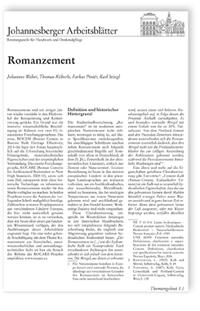 Merkblatt: Romanzement.