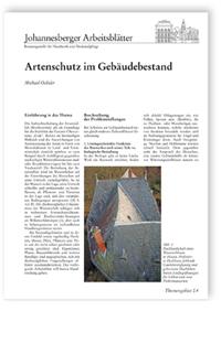 Merkblatt: Artenschutz im Gebäudebestand