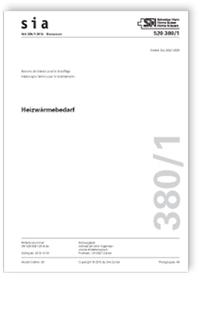 Norm: SIA 380/1:2016. Heizwärmebedarf