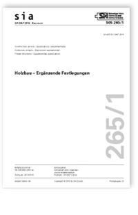 Norm: SIA 265/1:2018. Holzbau - Ergänzende Festlegungen