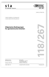 Norm: SIA 118/267:2019. Allgemeine Bedingungen für geotechnische Arbeiten