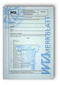 Merkblatt: Dry rot - identification, living conditions, preventive measures, controlling chemical measures, list of performance