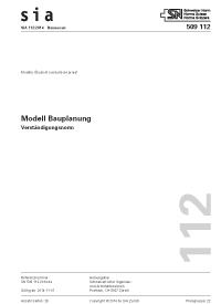 SIA 112:2014. Modell Bauplanung