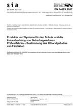 SIA 262.496, 01. 2008. Produkte und Systeme für den Schutz und die Instandsetzung von Betontragwerken - Prüfverfahren - Bestimmung des Chloridgehaltes von Festbeton