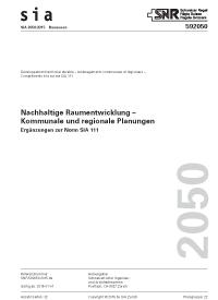 SIA Merkblatt 2050:2015. Nachhaltige Raumentwicklung - Kommunale und regionale Planungen