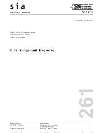 SIA 261:2014. Einwirkungen auf Tragwerke