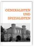 Generalisten und Spezialisten