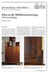 Kitte in der Möbelrestaurierung - Teil 1: Grundlagen