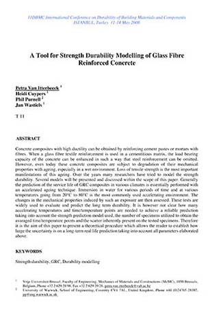 A Tool for Strength Durability Modelling of Glass Fibre Reinforced
